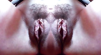 A monstrous double vagina with big lips: a really exciting monster that will make you come