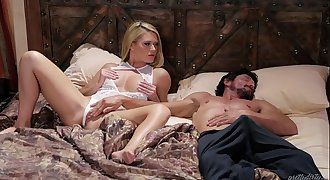 Blonde Babe and her Sleepwalker Step Dad - Abby Cross and Tommy Pistol