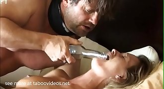Blonde Milf Fiercely Manhandled By Intruders