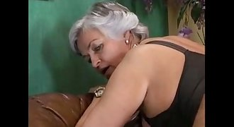 Grey Haired Granny in a Gang-bang