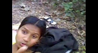 Indian Young teen bunks COLLEGE gets Banged in JUNGLE  Outdoor Forest