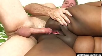 Fat Black Chick Heather Mason Sucks a Thick Cock and Then Takes It Up Her Vagina