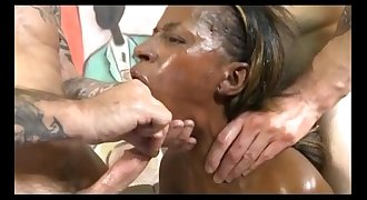 SpankBang stupid skinny black ghetto stephinne face fucked raw 480p-1