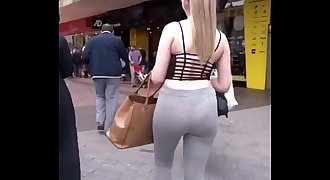 Candid Ass Compilation Leggings Jeans VPL See Through 2