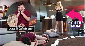BANGBROS - Horny Step Mom Katie Morgan Penalizes Juan For Messing Up The Condo