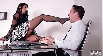 Stunning Boss lady Coco Demal gets a Wild Threesome
